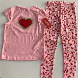 Gymboree top (size 7) and bottom (size 6).